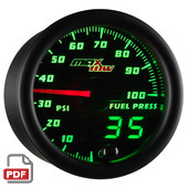 Maxtow 100 PSI Fuel Pressure Gauge Instructions