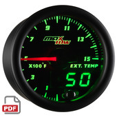 Maxtow 1500 F Pyrometer Gauge Instructions