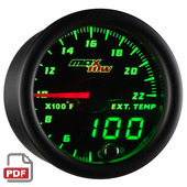 Maxtow 2200 F Pyrometer Gauge Instructions