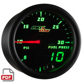 Maxtow 30 PSI Fuel Pressure Gauge Instructions