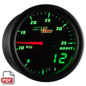 Maxtow 35 PSI Boost Gauge Instructions
