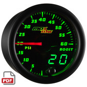 Maxtow 60 PSI Boost Gauge Instructions