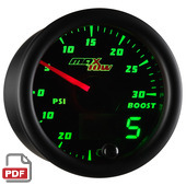 Maxtow 30 PSI Boost / Vacuum Gauge Instructions
