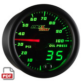 Maxtow Oil Pressure Gauge Instructions