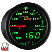 Maxtow Oil Temperature Gauge Instructions