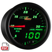 Maxtow 30,000 PSI Fuel Rail Pressure Gauge Instructions