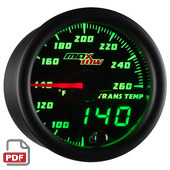 Maxtow Transmission Temperature Gauge Instructions