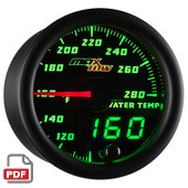 Maxtow Water Temperature Gauge Instructions