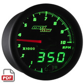 Maxtow Tachometer Gauge Instructions