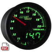 Maxtow Wideband Air/Fuel Ratio Gauge Instructions