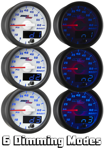 Daytime and Nighttime Dimming Modes Featured with MaxTow Gauges